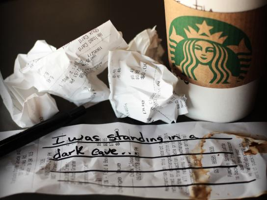 Starbucks Print Ad -  Cave