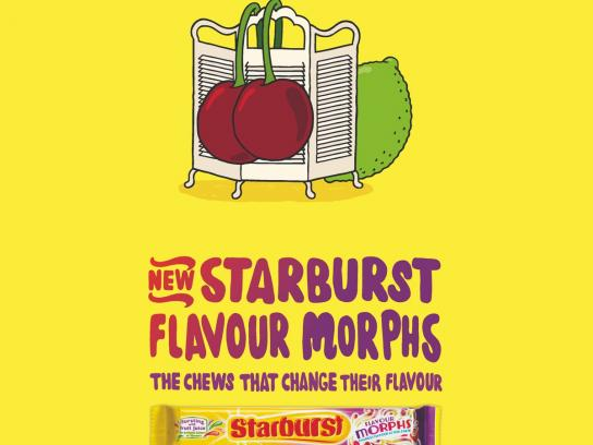 Starburst Print Ad -  Cherry