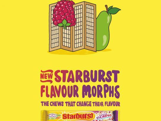 Starburst Print Ad -  Raspberry