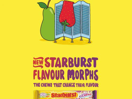 Starburst Print Ad -  Strawberry