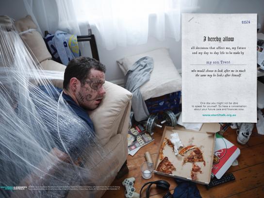 Start2Talk Print Ad -  My son Trent