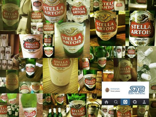 Student Travel Bureau Print Ad -  Beer