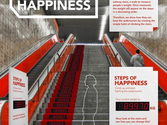 Coca-Cola Outdoor Ad -  Steps of Happiness