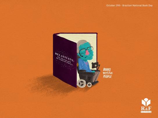 R&F Editora Print Ad - Stephen Hawking