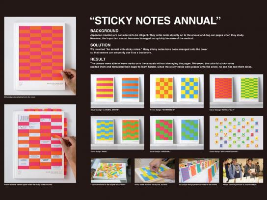 Copywriters Club Nagoya Direct Ad -  Sticky Notes Annual