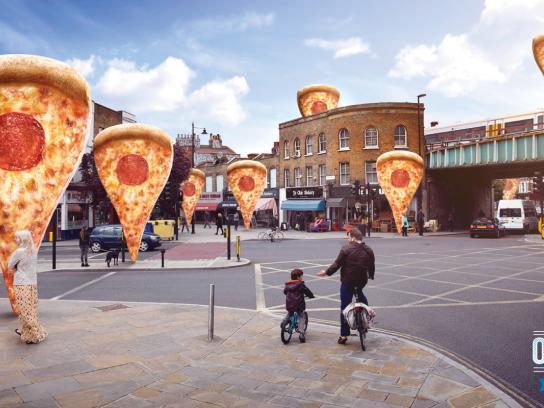 Domino's Pizza Print Ad -  Street