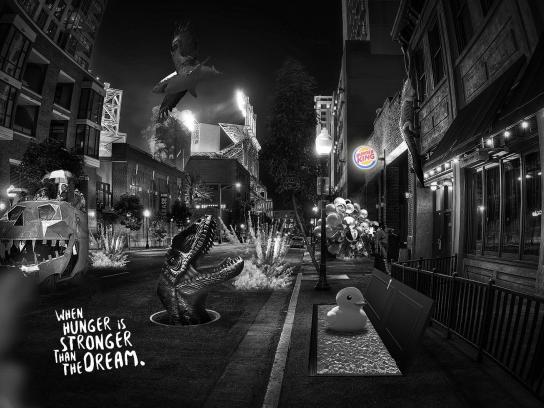 Burger King Print Ad - Dream - Street