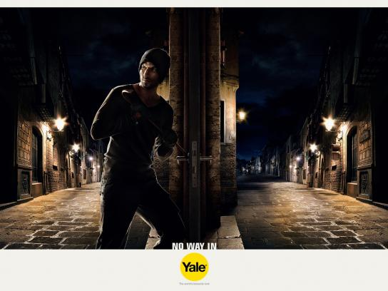 Yale Print Ad -  Keep the uninvited out, Street