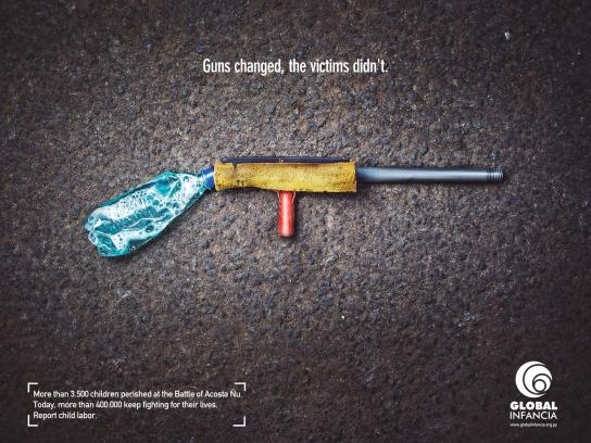 Global Infancia Print Ad -  Report child labor, 1