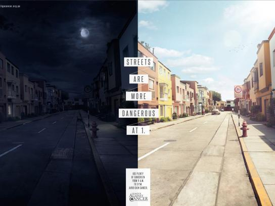 League against cancer Print Ad -  Streets