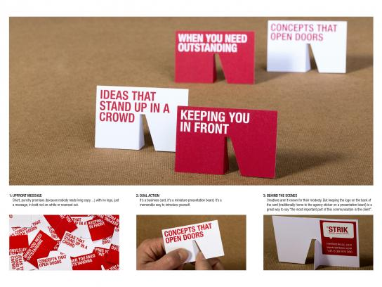STRIK Creative Concept Control Direct Ad -  Business cards