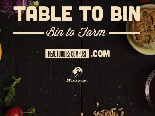 San Francisco Department of the Environment Outdoor Ad - Farm - Table - Bin - Farm