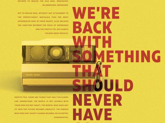 Studio Alfa Print Ad - We're Back With Something That Should Never Have Gone