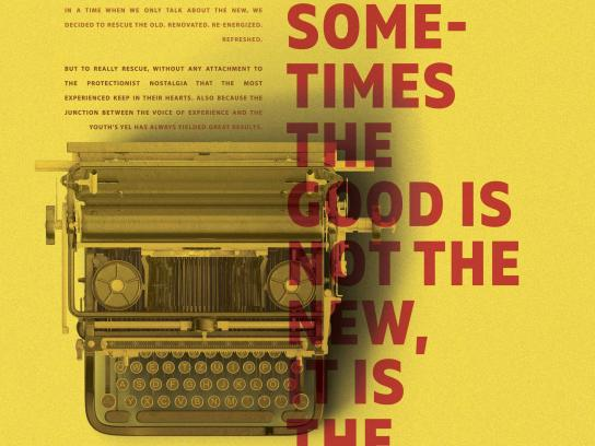 Studio Alfa Print Ad - Sometimes The Good Is Not The New, It Is The Renew
