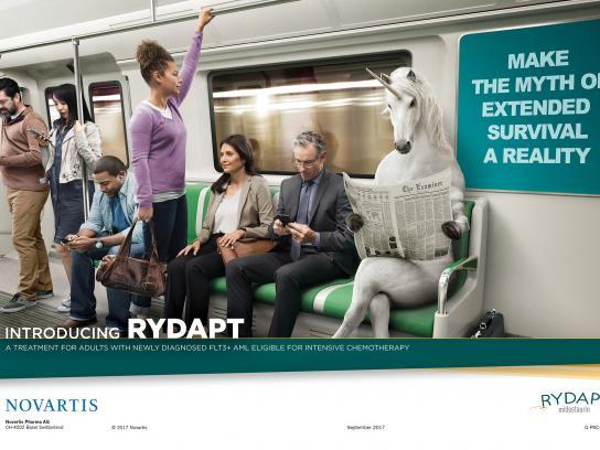 Novartis Print Ad - Outdoor Market Unicorn