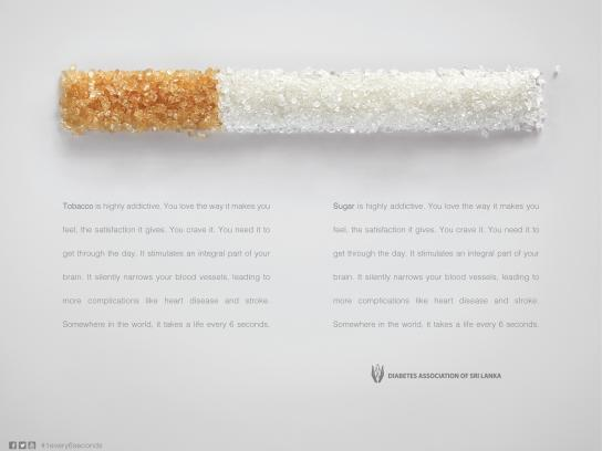 Diabetes Association of Sri Lanka Print Ad -  1 in every 6 seconds