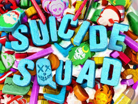 Suicide Squad Print Ad - Cereal Bowl 1-Sheet