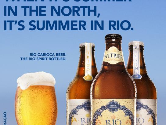 Rio Carioca Beer Print Ad - Summer