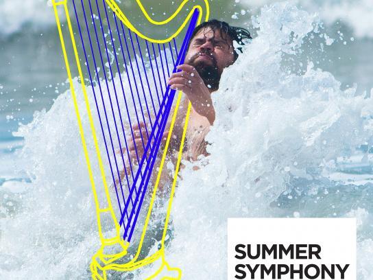 Orquesta Sinfónica Nacional Outdoor Ad - Summer Symphony - Harp
