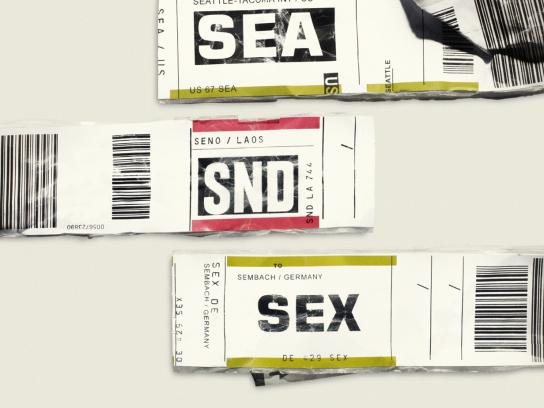 Expedia Print Ad -  SUN SEA SND SEX