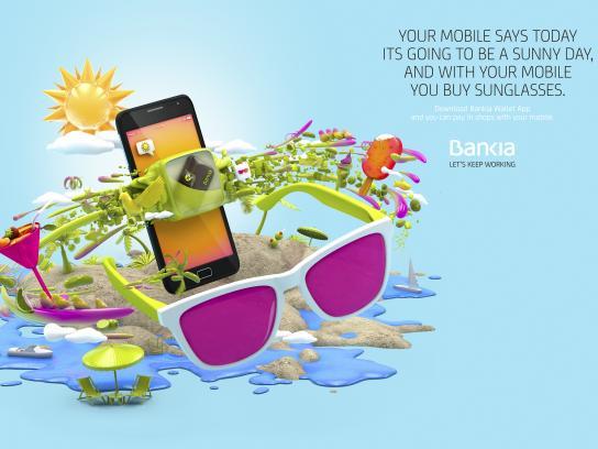 Bankia Print Ad - Sunglasses