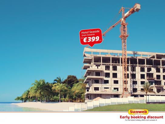 Sunweb Travel Print Ad -  Early booking discount, 2