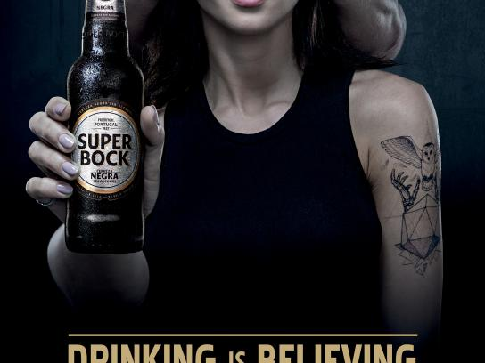 Super Bock Print Ad - Woman