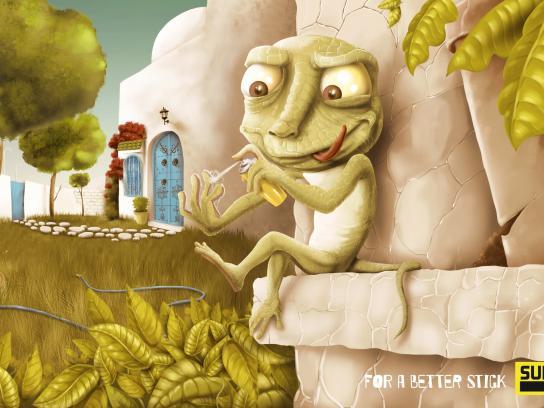 Super Colle Print Ad -  Lizard