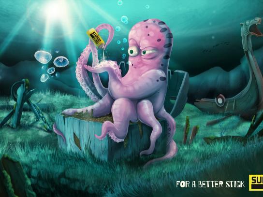 Super Colle Print Ad -  Octopus