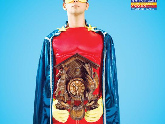 Corona Paints Print Ad -  Superhero