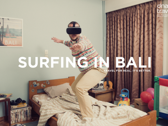 Dnata Travel Print Ad - Surfing