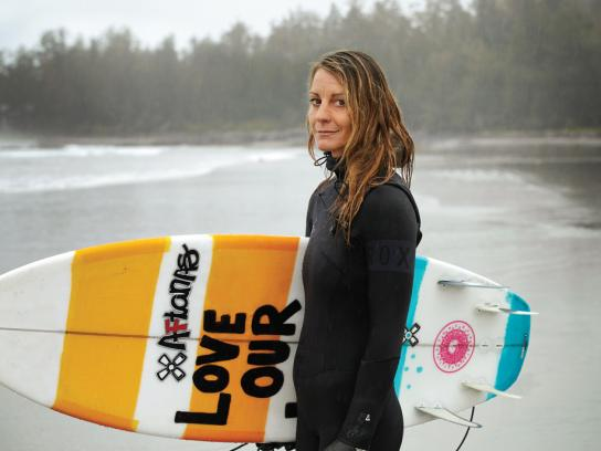 Canadian Breast Cancer Foundation Print Ad -  Surf