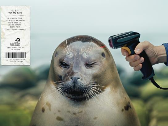 Surfrider Foundation Print Ad -  Barcode scanner, 1