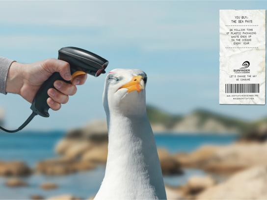 Surfrider Foundation Print Ad -  Barcode scanner, 2
