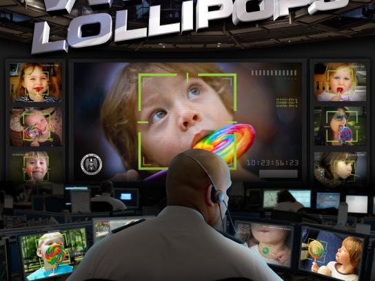 War on Irrational Fear Outdoor Ad -  Lollipops