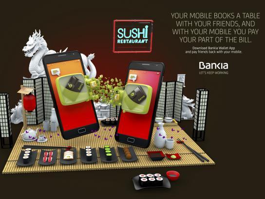 Bankia Print Ad - Sushi