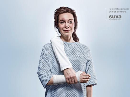 Suva Accident Insurance Print Ad -  Arm, 1