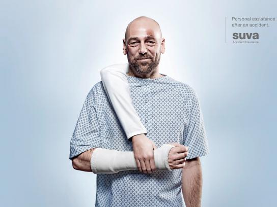 Suva Accident Insurance Print Ad -  Arm, 2