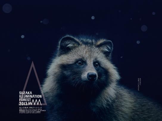 Suzaka Illumination Forest Outdoor Ad -  Raccoon