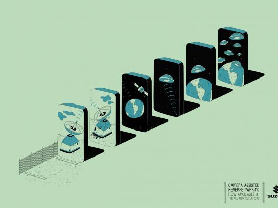 Suzuki Print Ad -  Domino effect - UFO