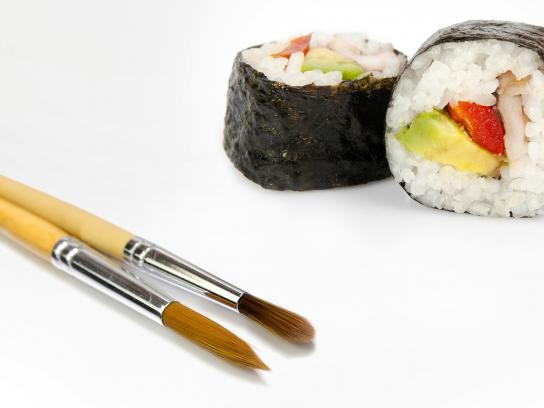 The Metropolitan Museum of Art Print Ad - Sushi
