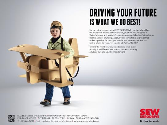 SEW-EURODRIVE Print Ad - Driving Your Future Is What We Do Best