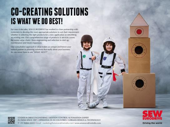 SEW-EURODRIVE Print Ad - Co-Creating Solutions Is What We Do Best