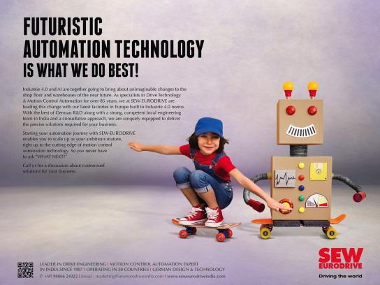 SEW-EURODRIVE Print Ad - Futuristic Automation Technology Is What We Do Best