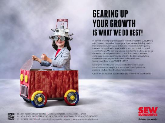 SEW-EURODRIVE Print Ad - Gearing Up For Your Growth Is What We Do Best