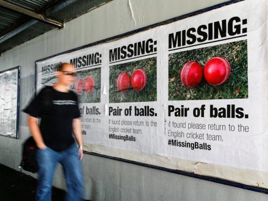 Sportsbet Outdoor Ad -  Missing balls