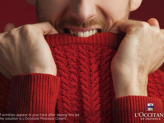 L'Occitane Print Ad - Face Wrinkle - Sweater