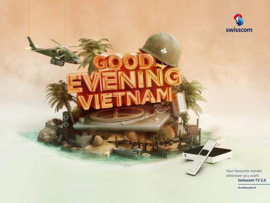 Swisscom Print Ad -  Good Evening Vietnam