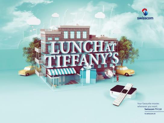 Swisscom Print Ad -  Lunch at Tifany's