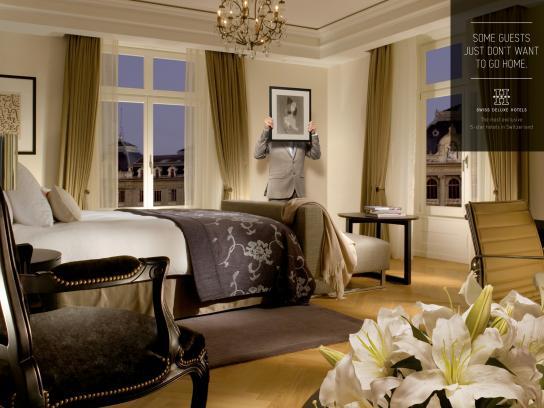 Swiss Deluxe Hotels Print Ad -  Hidden Guests, 4